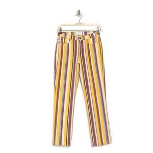 NWT FRAME Le High Straight Pant Stripe